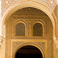 Arabesque Ornamental Designs At The Casa Real In The Nasrid Palaces At The Alhambra by Mal Bray