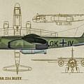 Arado Ar234b-2 - Profile Art by Tommy Anderson