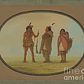 Arapaho Chief, His Wife, And A Warrior by George Catlin
