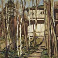 Arbour On The Mound Former Naydenovsky Park Moscow 1920 Apollinaris M Vasnetsov by Eloisa Mannion