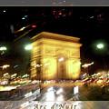 Arc De Triomphe By Bus Tour Greeting Card Poster V2 by Felipe Adan Lerma