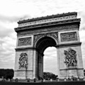 Arc De Triomphe In Black And White by Ginger Wakem