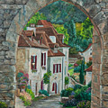 Arch Of Saint-cirq-lapopie by Charlotte Blanchard