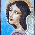 Archangel Contemplating The Holy Child by Ellen Chavez de Leitner