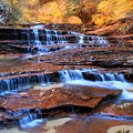 Archangel Falls In Zion National Park by Pierre Leclerc Photography
