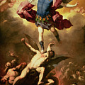 Archangel Michael Overthrows The Rebel Angel by Luca Giordano
