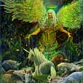 Archangel Raphael Protector Of Unicorns by Steve Roberts