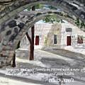 Arches At Ein Hod by Linda Feinberg