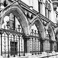 Arches Front Of The Royal Courts Of Justice London by Shirley Mitchell