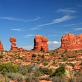 Arches National Park - Hoodoos Carved In Entrada Sandstone by Corey Ford