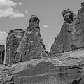 Arches National Park Park Avenue Black And White by John McGraw