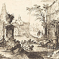 Architectural Fantasy With Roman Ruins by Joseph Stephan