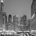 Architectural Image Of The Chicago River And Skyline From The Wrigley Building - Chicago Illinois by Silvio Ligutti