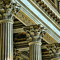Architecture Columns Palace King Louis Xiv Versailles  by Chuck Kuhn