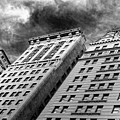 Architecture Tall Buildings Bw Nyc  by Chuck Kuhn
