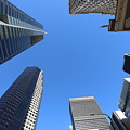 Architecture Tall Color Buildings by Chuck Kuhn