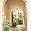 Archway And Stairs In Italy by Lisa Lemmons-Powers