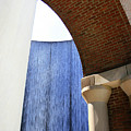 Arcs And Tangents Houston Water Wall by Angela Rath