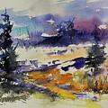 Ardennes Landscape Watercolor by Pol Ledent