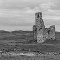 Ardvrek Castle 0947 Bw by Teresa Wilson