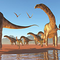 Argentinosaurus Herd by Corey Ford