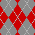 Argyle Diamond With Crisscross Lines In Paris Gray N02-p0126 by Custom Home Fashions