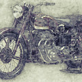 Ariel Square Four 1 - 1931 - Vintage Motorcycle Poster - Automotive Art by Studio Grafiikka