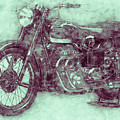 Ariel Square Four 3 - 1931 - Vintage Motorcycle Poster - Automotive Art by Studio Grafiikka