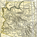 Arizona Territory Antique Map 1891 by Phil Cardamone