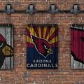 Arizona Cardinals Brick Wall by Joe Hamilton