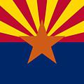 Arizona Flag Art by Anne Kitzman