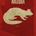 Arizona State Facts Minimalist Movie Poster Art by Design Turnpike