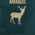 Arkansas State Facts Minimalist Movie Poster Art by Design Turnpike