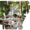 Arkansas Typography - Lake Ann Waterfall - Bella Vista Arkansas by Gregory Ballos