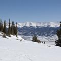 Arkansas Valley From Mount Elbert Colorado In Winter by Steve Krull