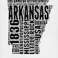 Arkansas Word Cloud 2 by Naxart Studio