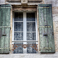 Arles France Green Window And Shutters by Gigi Ebert