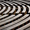 Arlington Cemetery Amphitheater Benches #2 by Stuart Litoff