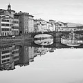 Arno River Reflection, Florence, Italy by Richard Goodrich