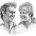 Arnold Palmer-jack Nicklaus by Murphy Elliott
