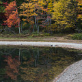 Around The Bend- Hiking Walden Pond In Autumn by Toby McGuire