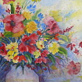 Arrangement In Red And Yellow by Laurie Salmela