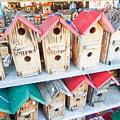 Array Of Handmade Birdhouses For Sale by Alex Grichenko