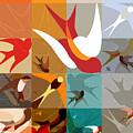Arraygraphy - Birdies Triptych Part2 by Arthur Babiarz