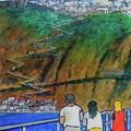Arriving  At Thira Santorini Greece by Frank Hunter