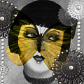 Art Deco Butterfly Woman by Mindy Sommers