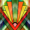 Art Deco Chevron 2 V by Chuck Staley