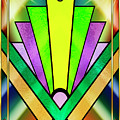 Art Deco Chevron 3 V by Chuck Staley