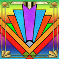 Art Deco Chevron 5 by Chuck Staley