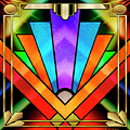 Art Deco Chevron 5 Dark by Chuck Staley